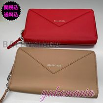 BALENCIAGA PAPIER A4 Leather Long Wallets