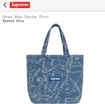 Supreme Monogram Unisex Denim Street Style Collaboration Hip Packs