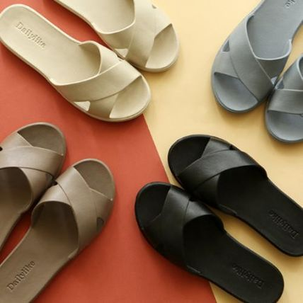Open Toe Casual Style Plain Slippers Sandals Sandal