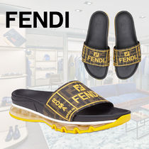 FENDI Monogram Plain Shower Shoes Shower Sandals