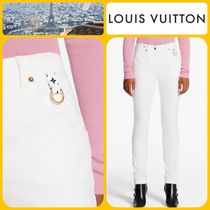 Louis Vuitton Monogram Casual Style Plain Cotton Long Skinny Pants