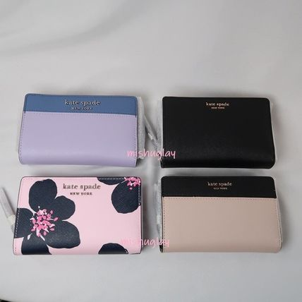 Bi-color Plain Leather Folding Wallet Folding Wallets
