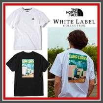 THE NORTH FACE WHITE LABEL Crew Neck Unisex Plain Cotton Short Sleeves