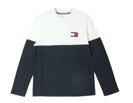 Tommy Hilfiger Long Sleeve Crew Neck Street Style Long Sleeves Cotton 9