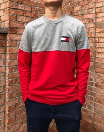 Tommy Hilfiger Long Sleeve Crew Neck Street Style Long Sleeves Cotton 3