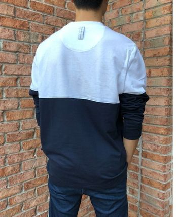 Tommy Hilfiger Long Sleeve Crew Neck Street Style Long Sleeves Cotton 8