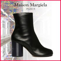Maison Martin Margiela Tabi Leather Block Heels Ankle & Booties Boots