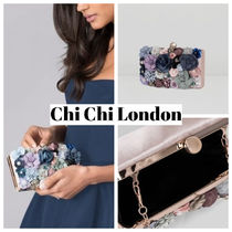Chi Chi London Flower Patterns 2WAY 3WAY Chain Party Style Clutches