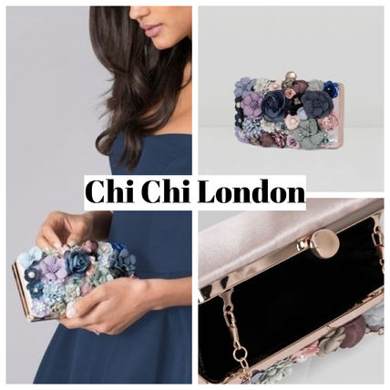 Flower Patterns 2WAY 3WAY Chain Party Style Clutches