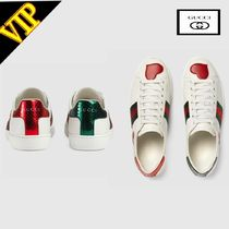 GUCCI Ace Heart Rubber Sole Low-Top Sneakers