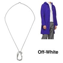 Off-White Unisex Street Style Chain Plain Metal Necklaces & Chokers