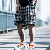 Other Check Patterns Street Style Cotton Oversized