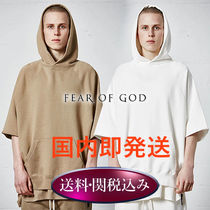 FEAR OF GOD Street Style Cropped Cotton Hoodies