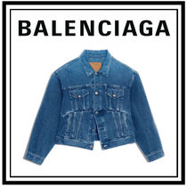 BALENCIAGA Denim Plain Jackets