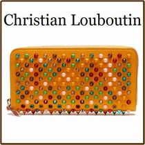 Christian Louboutin Panettone  Blended Fabrics Studded Leather Long Wallets