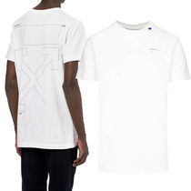 Off-White Crew Neck Street Style Cotton Short Sleeves