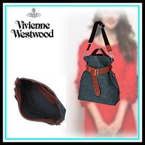 Vivienne Westwood Casual Style Blended Fabrics Leather Home Party Ideas Totes