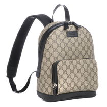 GUCCI Unisex Chain Leather Elegant Style Backpacks