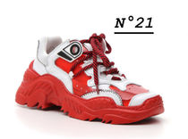 N21 numero ventuno Rubber Sole Leather Low-Top Sneakers
