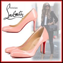 Christian Louboutin Round Toe Elegant Style High Heel Pumps & Mules