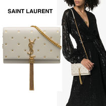 Saint Laurent KATE Star Monogram Calfskin Bag in Bag 2WAY Chain Fringes