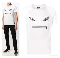 FENDI BAG BUGS Unisex Cotton T-Shirts