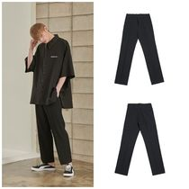 ADD SEOUL Slax Pants Street Style Plain Slacks Pants