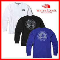 THE NORTH FACE WHITE LABEL Unisex U-Neck Long Sleeves Cotton Logos on the Sleeves