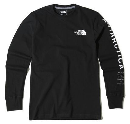 THE NORTH FACE Long Sleeve Unisex U-Neck Long Sleeves Cotton Logos on the Sleeves 2