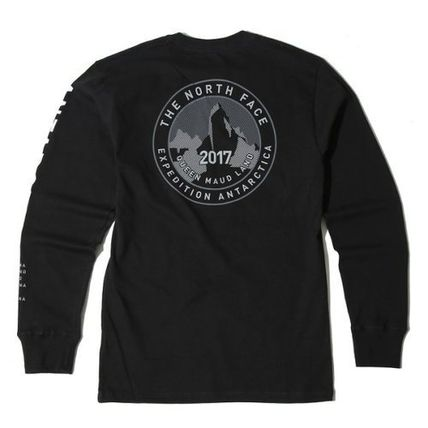 THE NORTH FACE Long Sleeve Unisex U-Neck Long Sleeves Cotton Logos on the Sleeves 3