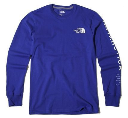 THE NORTH FACE Long Sleeve Unisex U-Neck Long Sleeves Cotton Logos on the Sleeves 8