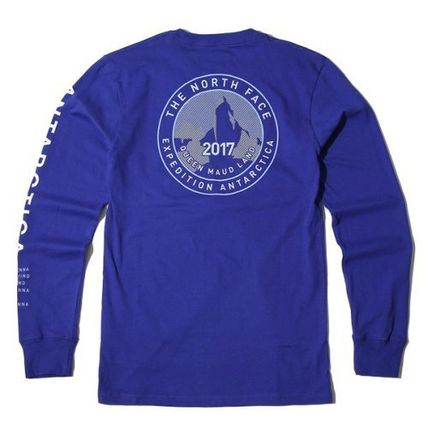 THE NORTH FACE Long Sleeve Unisex U-Neck Long Sleeves Cotton Logos on the Sleeves 9