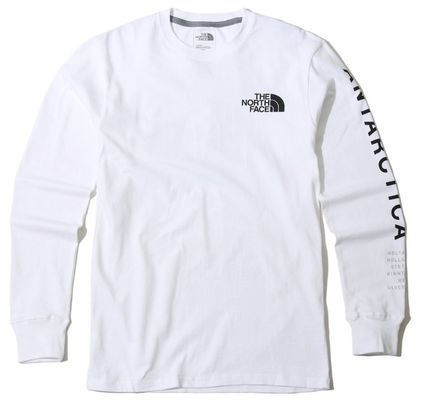 THE NORTH FACE Long Sleeve Unisex U-Neck Long Sleeves Cotton Logos on the Sleeves 14