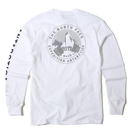 THE NORTH FACE Long Sleeve Unisex U-Neck Long Sleeves Cotton Logos on the Sleeves 15