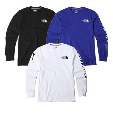 THE NORTH FACE Long Sleeve Unisex U-Neck Long Sleeves Cotton Logos on the Sleeves 20