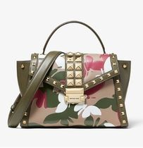 Michael Kors WHITNEY Camouflage Studded 2WAY Leather Elegant Style Handbags