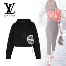 Louis Vuitton Monogram Long Sleeves Cotton Long Hoodies & Sweatshirts