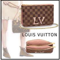 Louis Vuitton 2019-20AW POCHETTE DOUBLE ZIP brown one size pochette