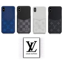 Louis Vuitton Unisex Leather Smart Phone Cases