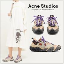 Acne Platform Casual Style Suede Blended Fabrics Street Style