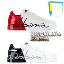 Dolce & Gabbana Bi-color Leather Sneakers