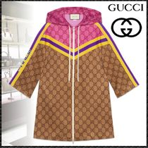 GUCCI Stripes Monogram Casual Style Street Style Medium Jackets