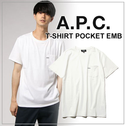 A.P.C. Crew Neck Crew Neck Plain Short Sleeves Crew Neck T-Shirts