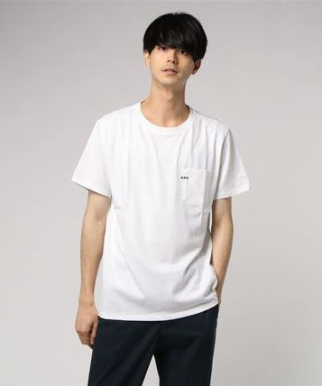 A.P.C. Crew Neck Crew Neck Plain Short Sleeves Crew Neck T-Shirts 3