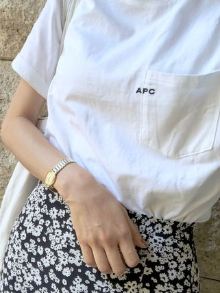 A.P.C. Crew Neck Crew Neck Plain Short Sleeves Crew Neck T-Shirts 13
