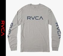 RVCA Crew Neck Street Style Long Sleeves Logos on the Sleeves