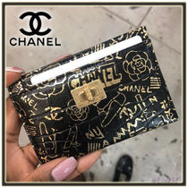 CHANEL Other Animal Patterns Leather Card Holders