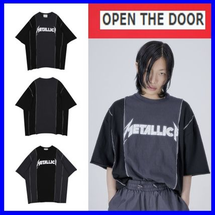 OPEN THE DOOR More T-Shirts Unisex Street Style Cotton Oversized T-Shirts