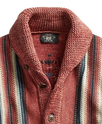 RRL Street Style Cotton Tribal Surf Style Cardigans