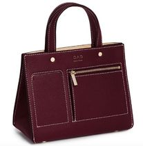 OAD NEW YORK Casual Style 2WAY Bi-color Plain Leather Crossbody
